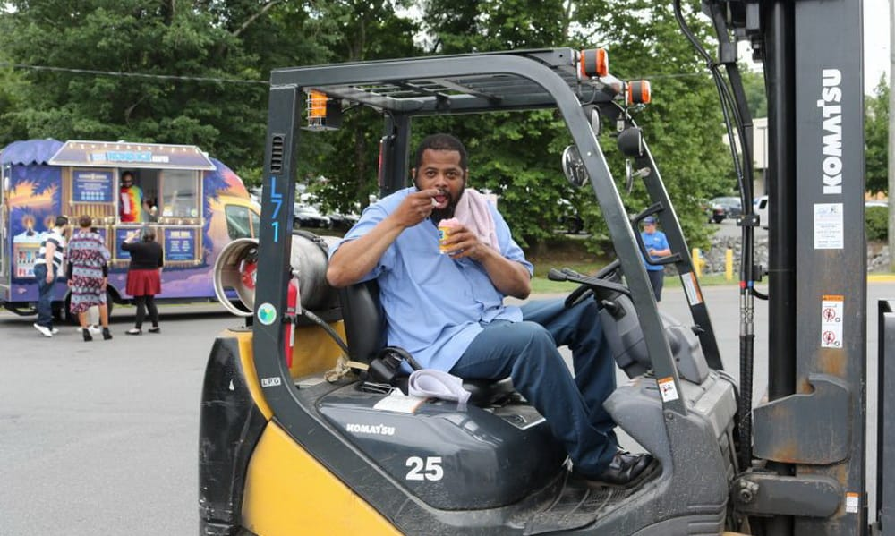 Summer is no breeze for a lift truck